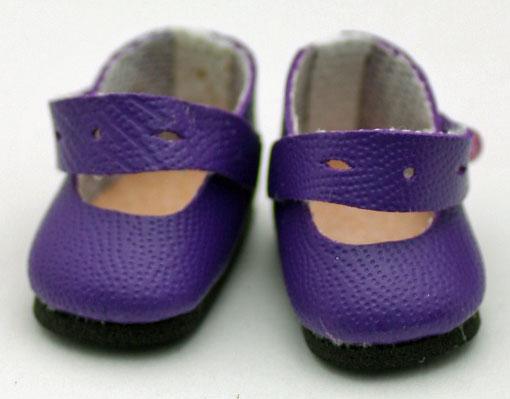 エレガント・メリージェーン・シューズ、ダーク・パープル (ジニー用) 744 Splendid Ankle Storap Shoes