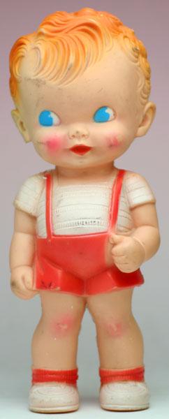 赤い短パンの男の子 サンラバー社 THE SUN RUBBER CO.
